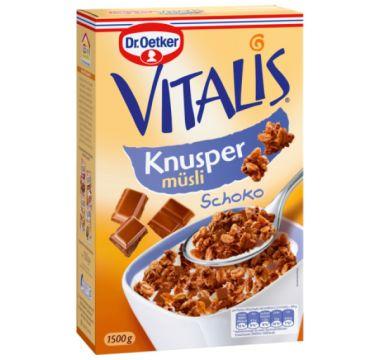 Vitalis křupavé müsli čokoládové 1,5 kg