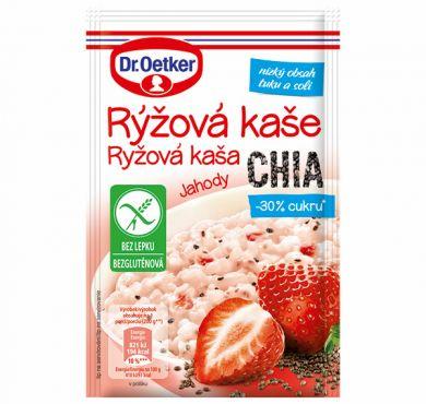 Rýžová kaše Jahody, CHIA 50g