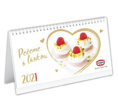 Stolní kalendář Pečeme s láskou 2021
