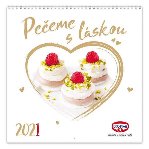 Nástěnný kalendář Pečeme s láskou 2021